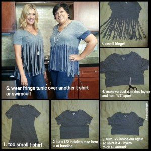 tunic t-shirt collage