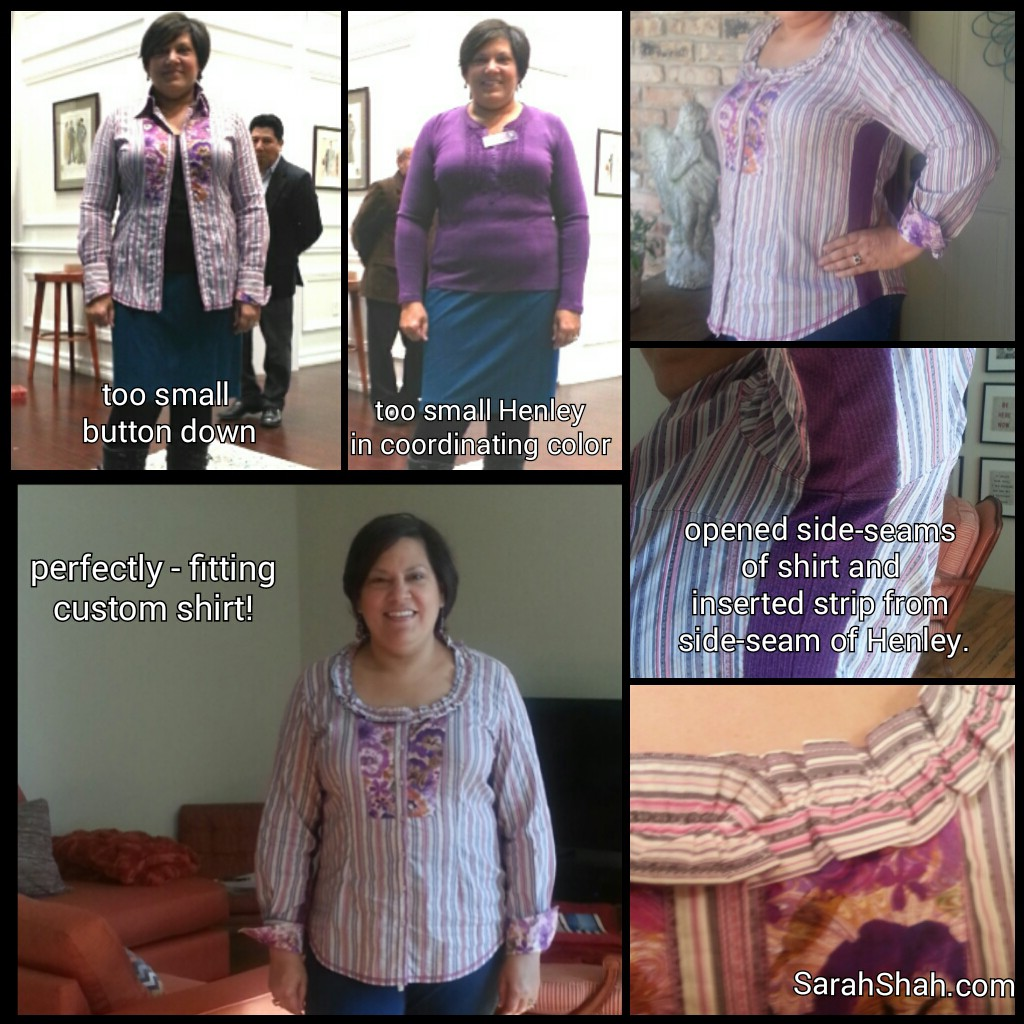 Tailoring: Making A Button-Down Shirt Bigger – Sarah Shah