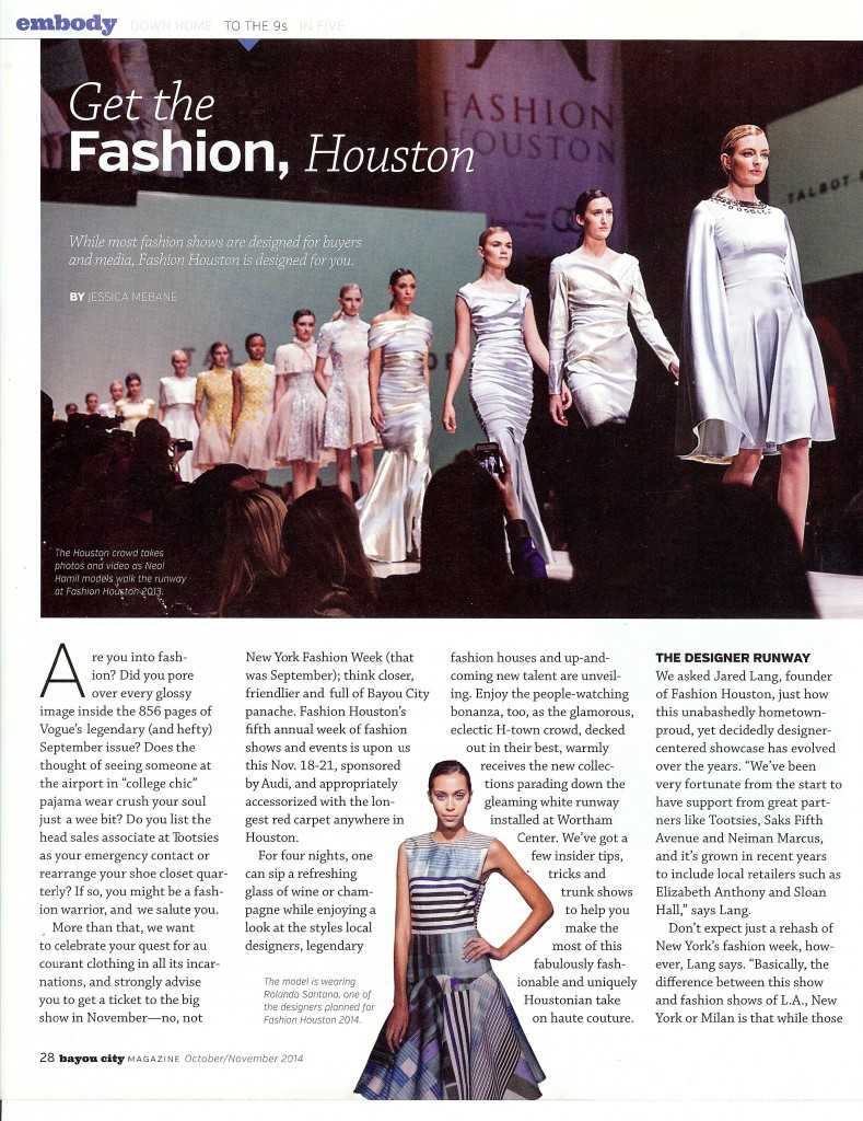 Bayou City Magazine Article - To The 9's - Get The Fashion Houston - 1